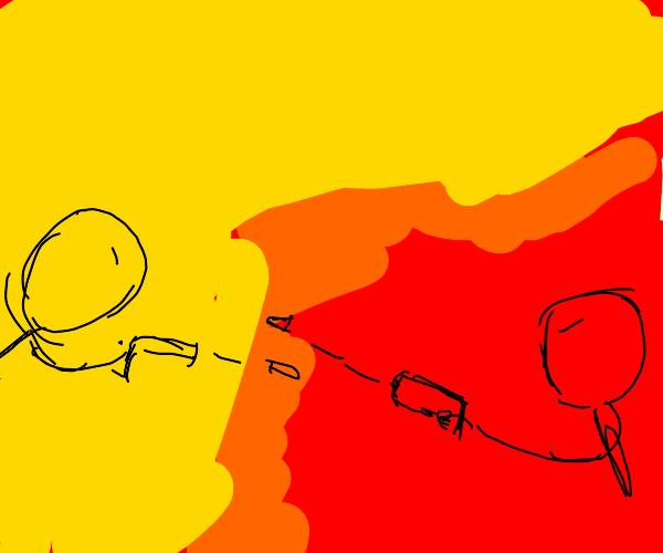 Stickman gunfight