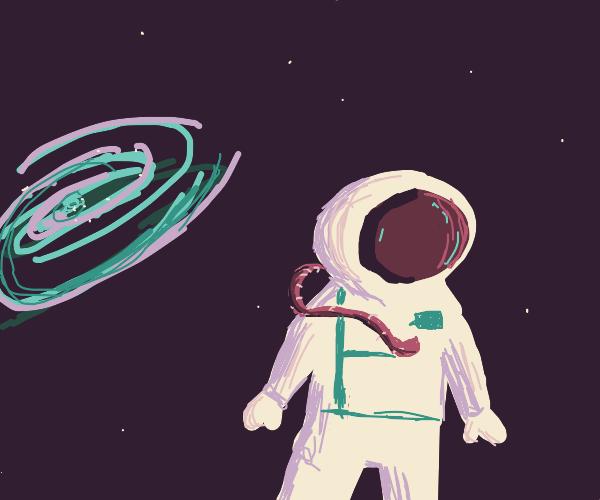 Humanoid outside the galaxy's edge