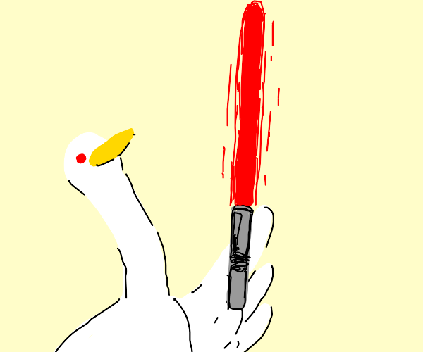 Goose has lightsaber now.
