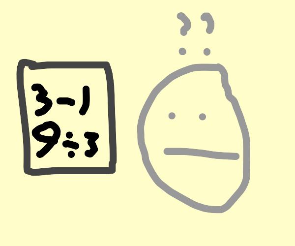 Confused at mathematics