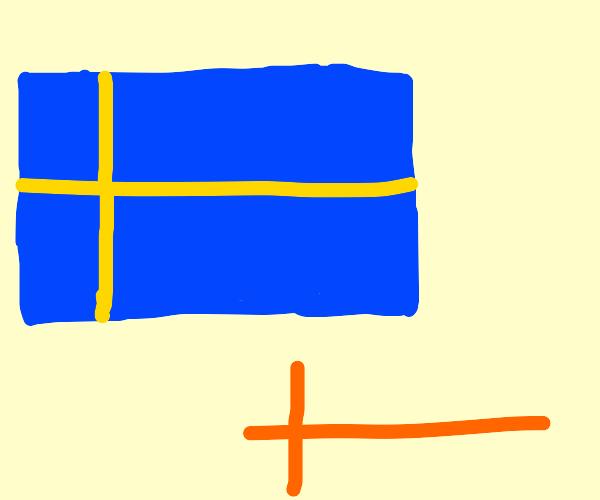 Swedish flag and Scandinavian cross