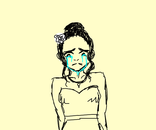 A crying person