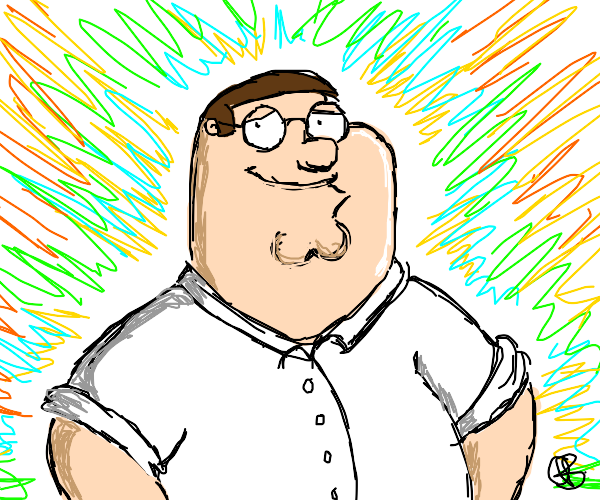 A Happy Peter Griffin
