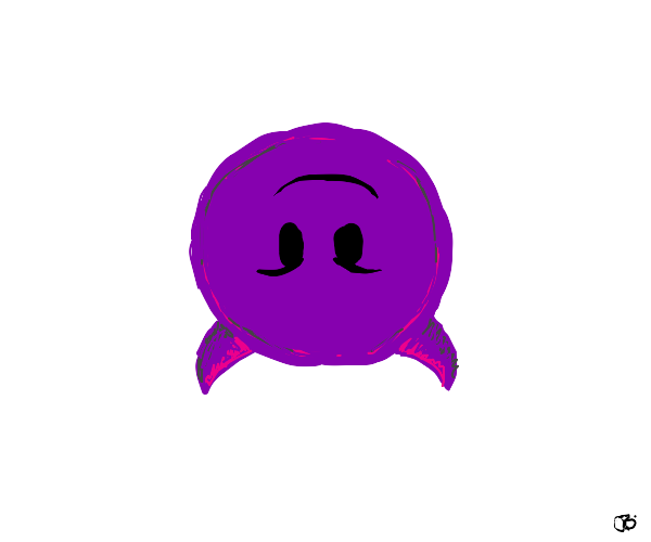 Upside down devil emoji