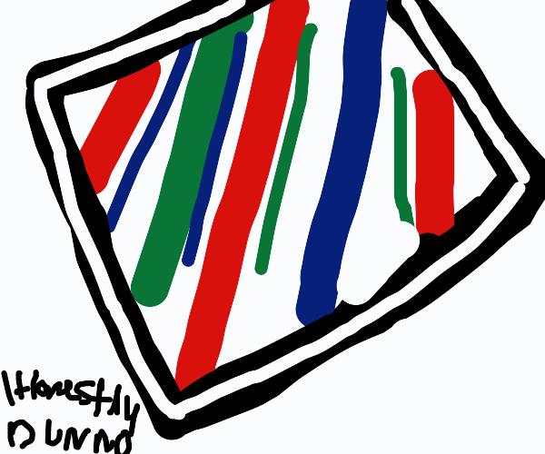 Cube of pastel stripeS