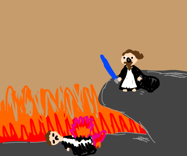 that one part in star wars with the lava
