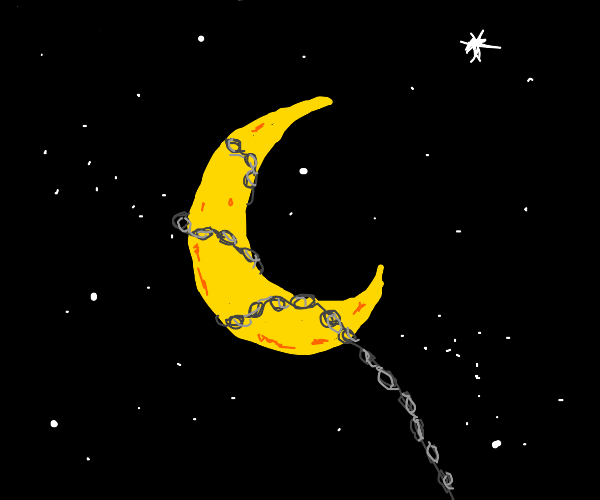 The moon in chains