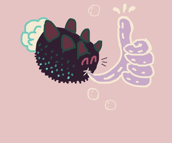 pyukumuku gives you thumbs up! she loves you!