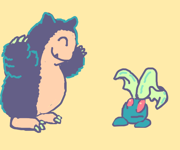 Snorlax offers some hugs.