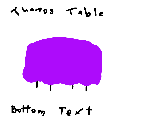 THANOS TABLE BOTTEM TEXT