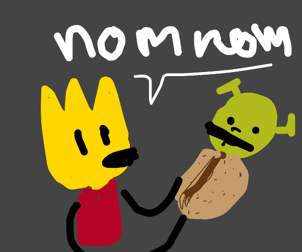 Bart Simpson eats Shrek burrito