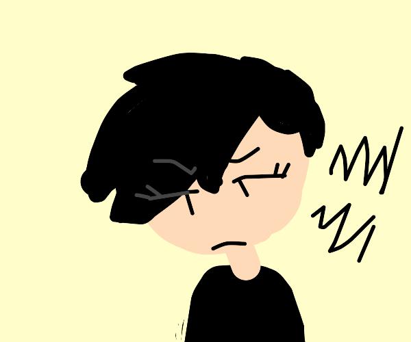 moody teenage girl