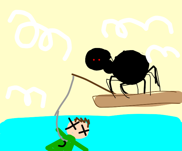 Spider fishing ded dude
