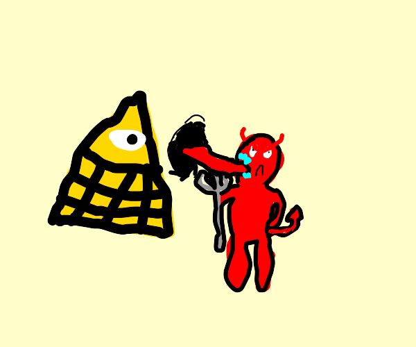 Bill cipher licking satan