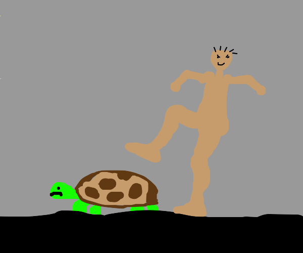 Turtle about to get stepped on