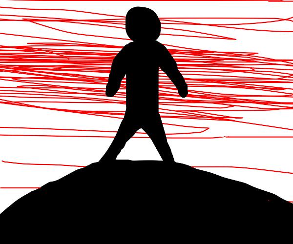 a lone stick figure