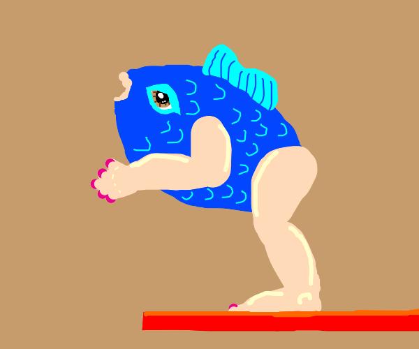 blue fish humaning?