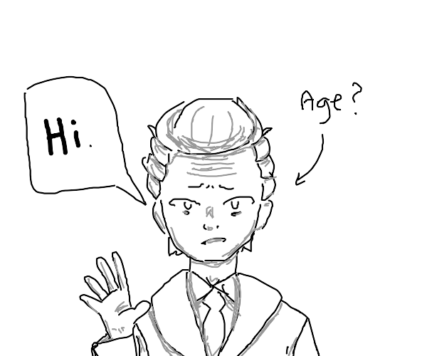 an adult guy greeting you