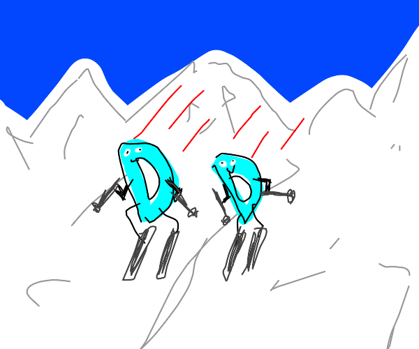 2 drawceptions are doing sleigh
