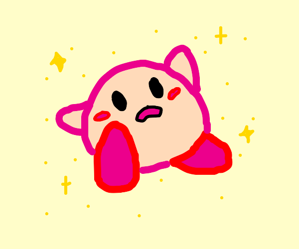 kirby stares in awe