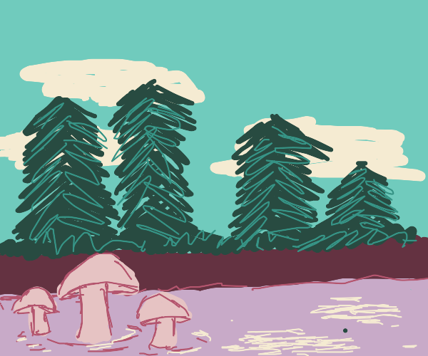 mushrooms in water