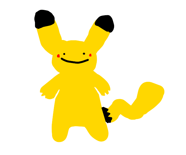 Pikachu, but its face is different