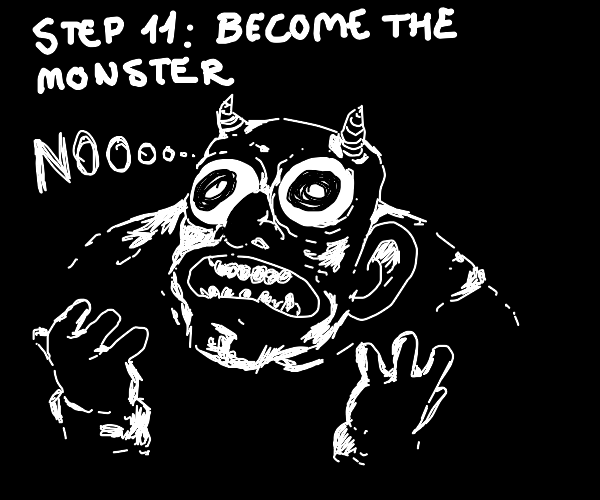 Step 10: Eat the monster
