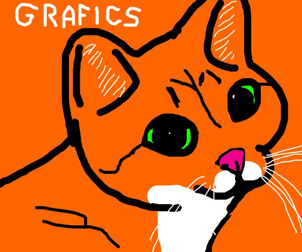Realistic Garfield Drawception