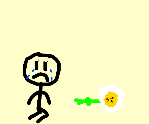 man mourns the loss of his flower