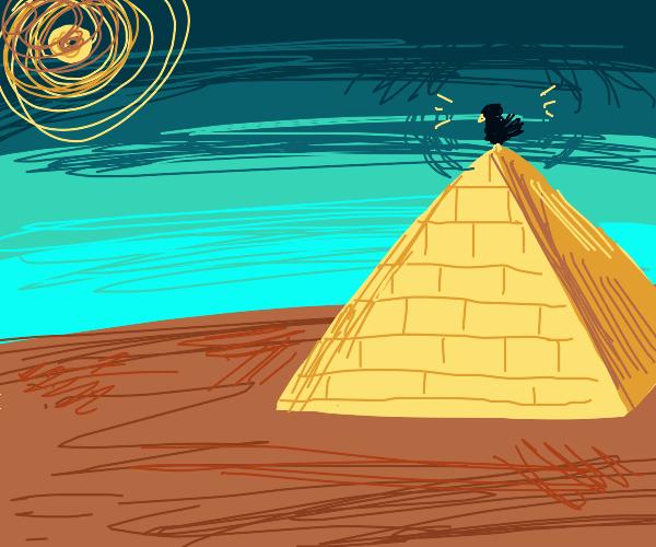 Bird on top of Pyramids