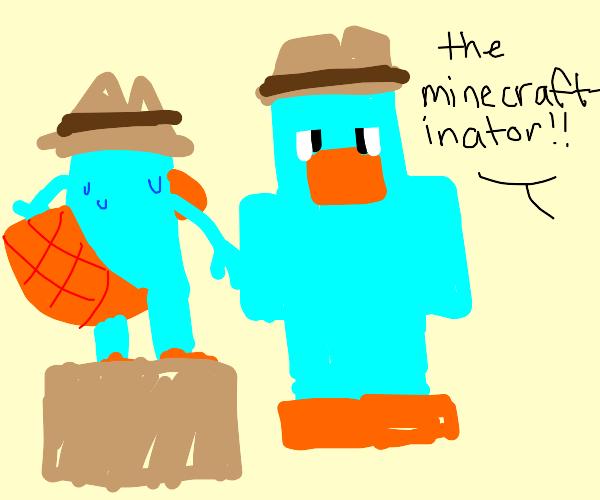 Perry the platypus upset by block look-alike