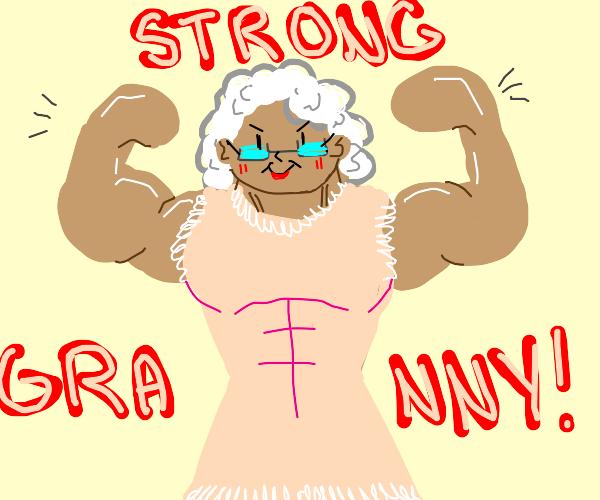 grandmas got muscles