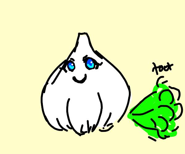 Kawaii garlic farting (ew what)