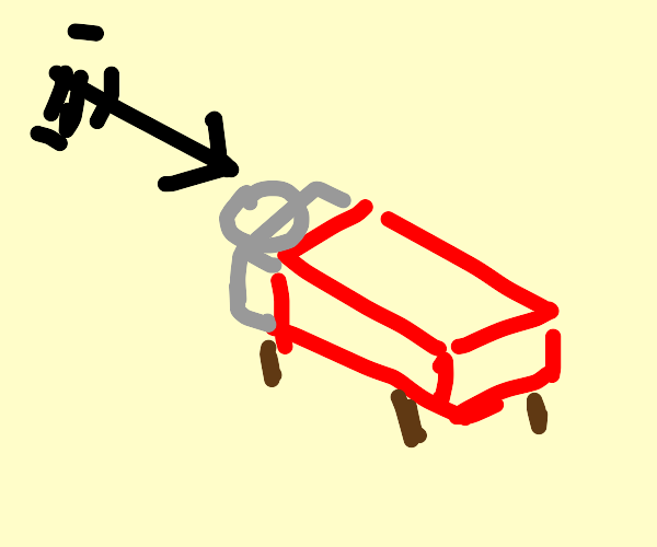 Arrow flying into a bed