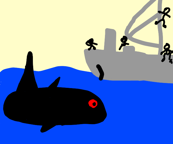 Creature below the deep ocean