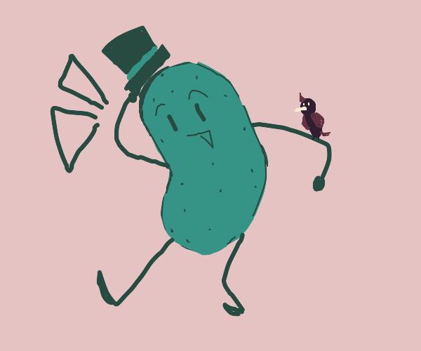 Fancy Green Potato and His Pet Bird