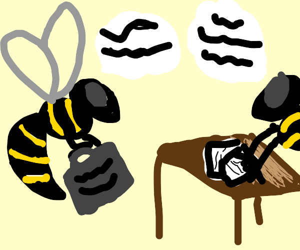 hornets at a business meeting