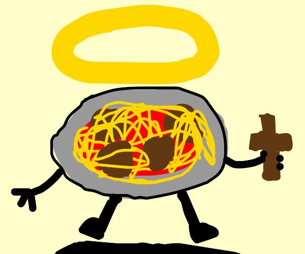 Holy spaghetti and meatballs