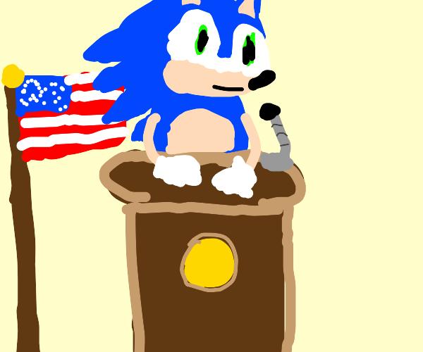 Sonic 4 President!