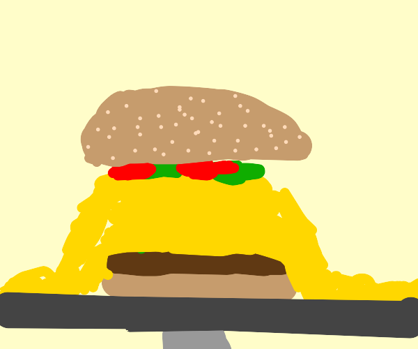 burger with too much cheese