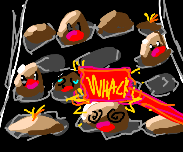 Whack a diglett (mole)