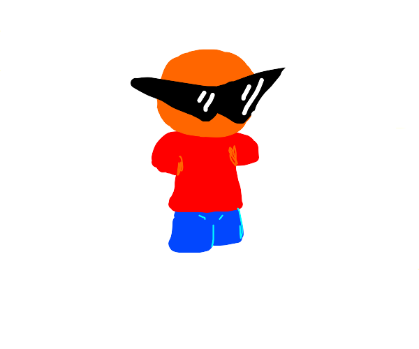 Orange Boy with Squirtle Squad Glasses
