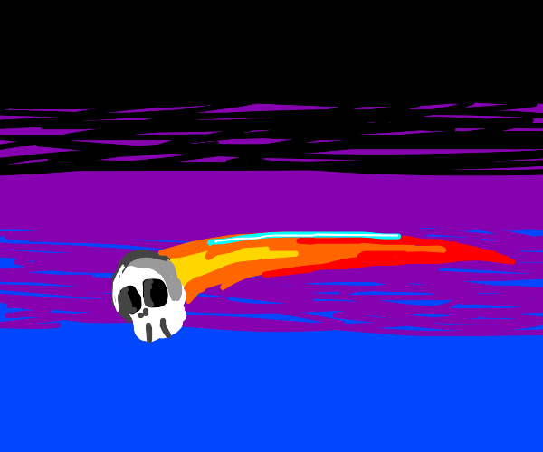 Shooting star, but it's a skull