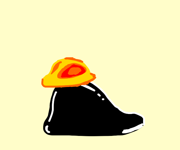 Black Blob with Construction Hat