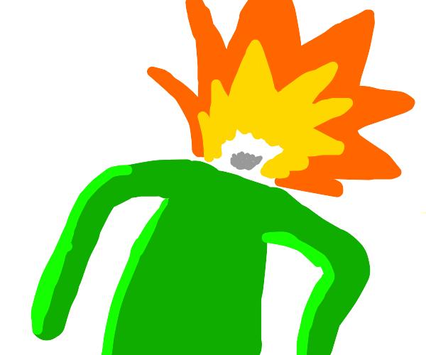 Green Man's Head Explodes