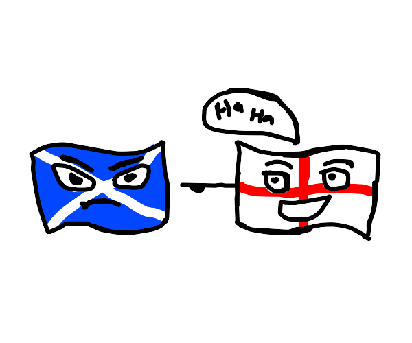 Flags: Scotland Frustrated, England Makin Fun