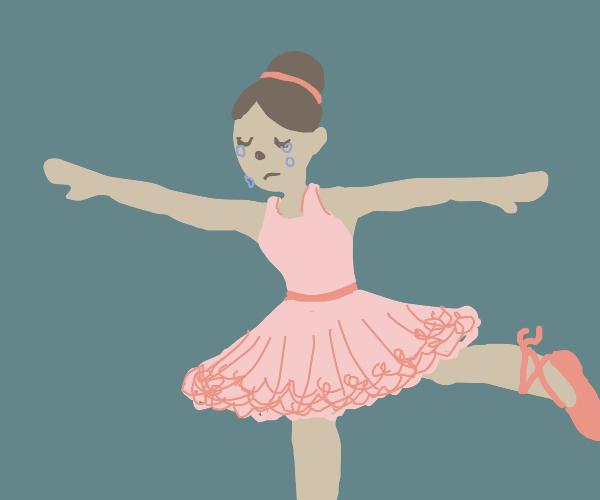 ballerina cries while dancing