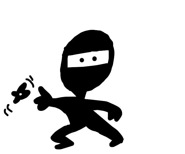 A black+white ninja