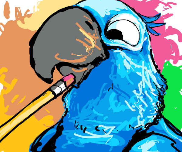 Macaw glad its beak is getting erased