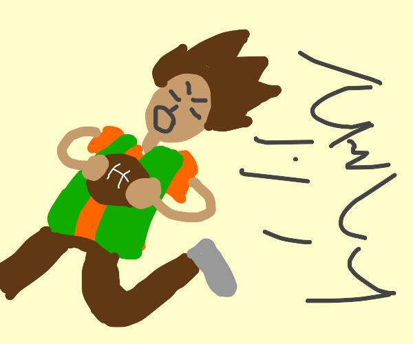 Brock (Pokemon) playing American football